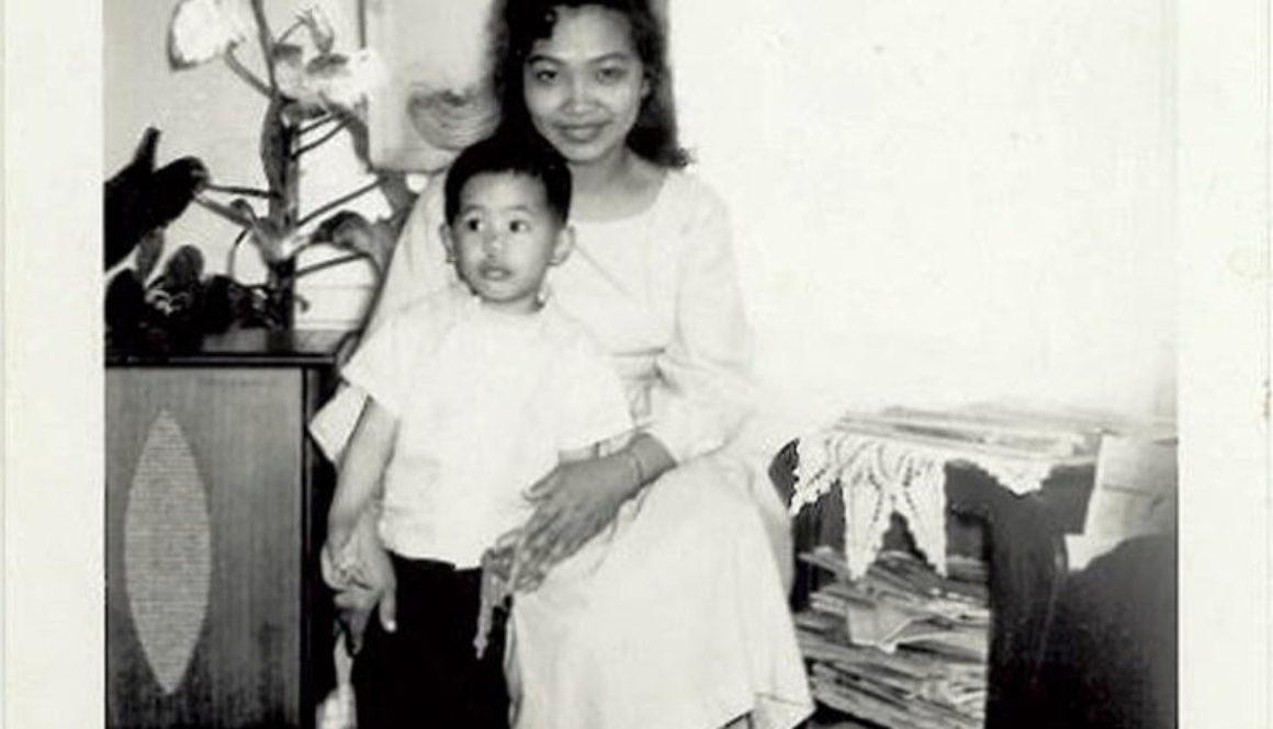 Edo and Aida (Edo's mom); circa 1960.
