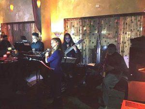 Laura Austin Quartet performing at Sheba Lounge.