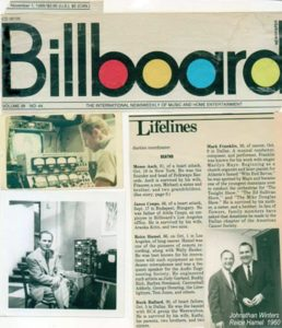 Reice Hamel in Billboard magazine.