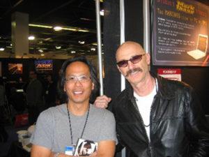 Edo with Tony Levin.